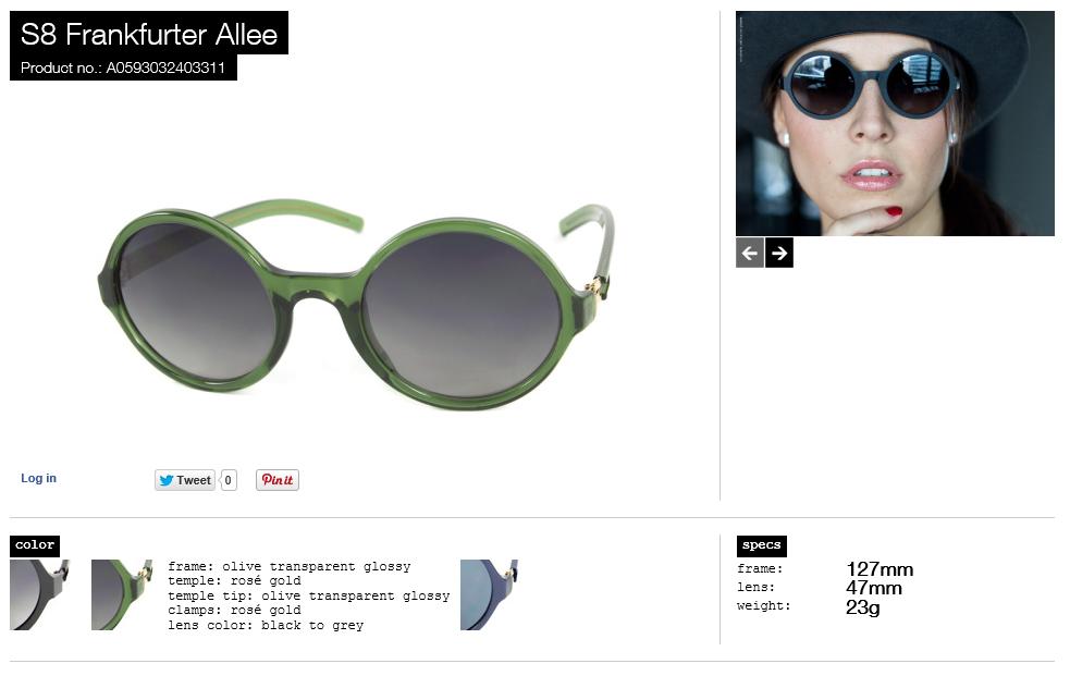 S8 Frankfurter allee olive transparent glossy lens black to grey