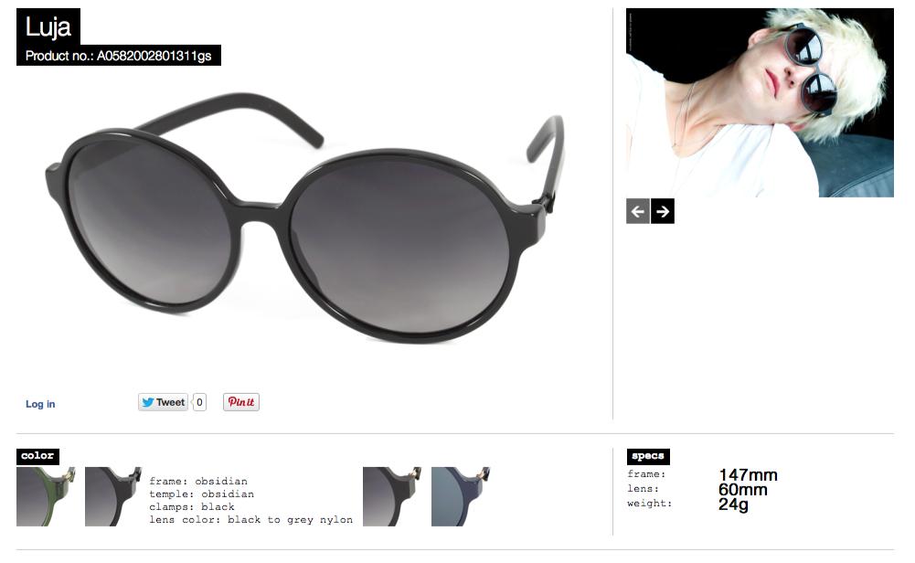 luja obsidian lens black to grey nylon