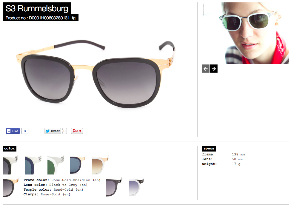 S3 Rummelsburg rose gold lens black to grey