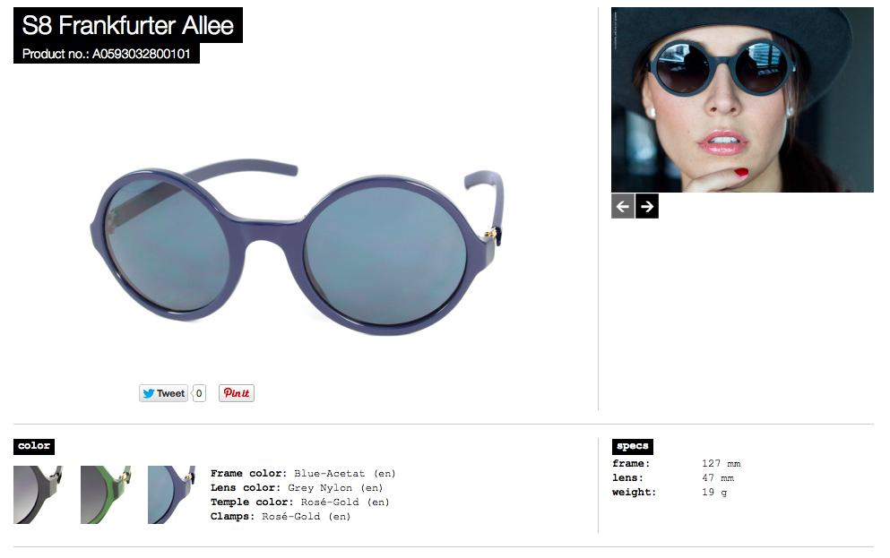 S8 Frankfurter Allee blue acetat lens grey nylon